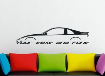 Large Custom car silhouette wall sticker - for Nissan 300ZX , Z32 fairlady retro sports car